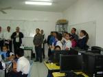 Autoridades educativas, Esc. Prim. Ángel Flores invitada, Alumnos y profesor de Aula Telmex presentando el proyecto.