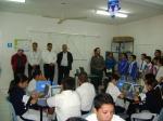 Profr. Benkis Chávez dando a conocer el proyecto a Escuelas Invitadas y autoridades.
